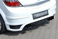 Opel Astra H (04-15) Задняя юбка Rieger